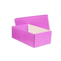caja de zapatos violeta